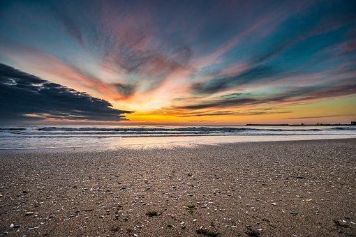 Water, Sand, Beach, Sky, Nature, Landscape, Sea, Travel