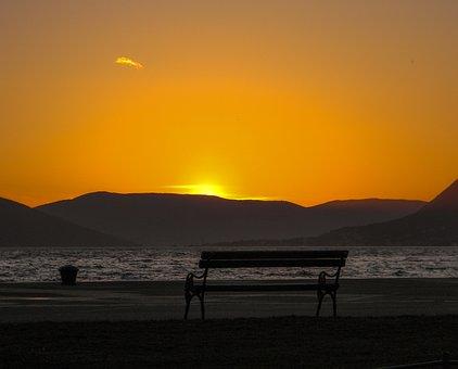 Sunset, Dawn, Twilight, Evening, Water, Sun, Sea
