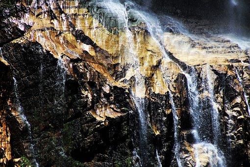 Waterfall, Water, Cascade, Wet, Rock, Nature