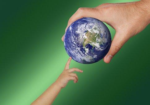 World, Earth, Globe, Keep, Give, Tap, Drop, Ball