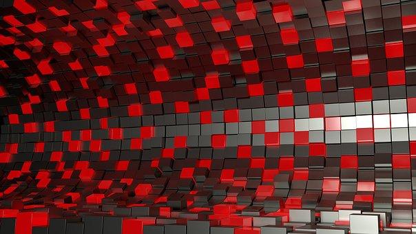 Squares, Cubes, Desktop, 3d, Background