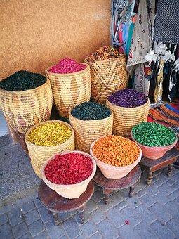 Market, Basket, Bazar, Food, Wood, Container, Spezia