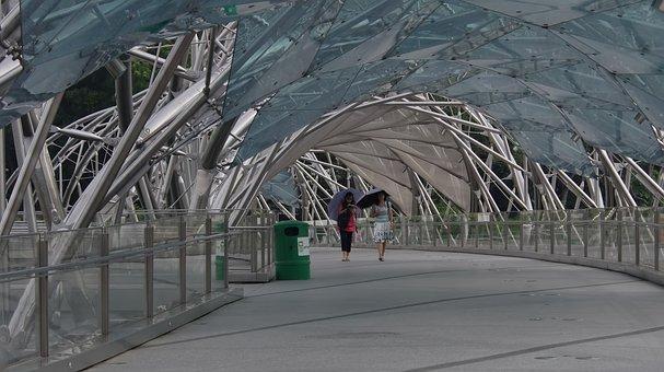 Architecture, Outdoors, Tourism, Bridge, People, Path