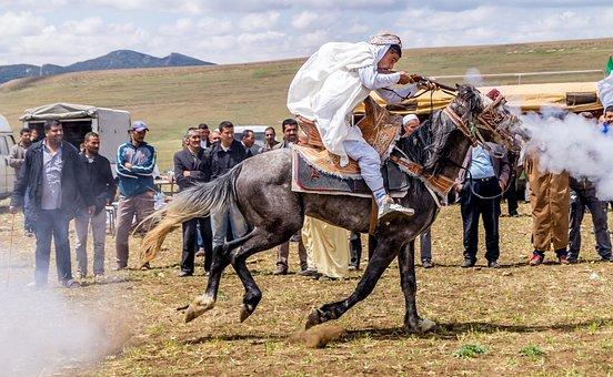Cavalry, Ras El Oued, Fantazia, Wedding, Celebrate