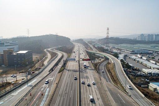 Road, Transport, City, Travel, Highway, Horizon