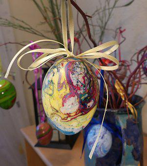 Easter Egg, Colorful, Dipping Paint, Happy Easter