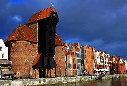 Architecture, Poland, Gdansk, Crane Medieval, Travel