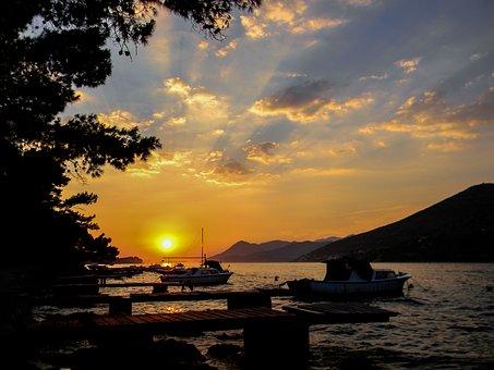 Sunset, Water, Dawn, Twilight, Nature, Sea, Coast