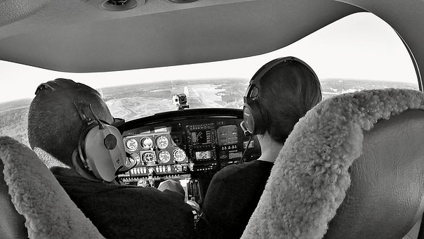 Diamond Da40, Landing, Airplane, Cockpit, Aircraft