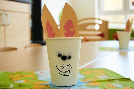 Easter, Easter Bunny, Kindergarten, Tinker, Fun, Cup