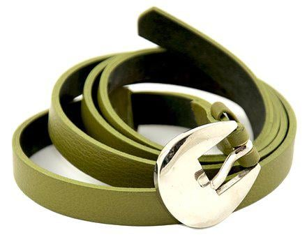 Waist Belt For Women, Green, Genuine Leather