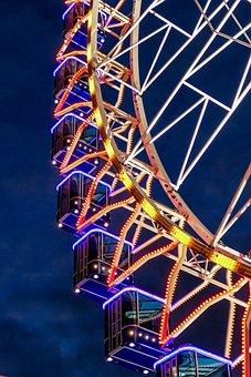 Architecture, Ferris Wheel, Sky, High Feeling, High