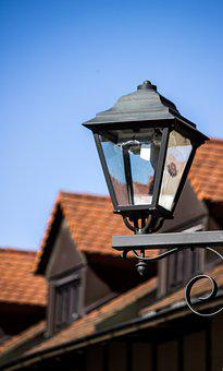 Lamp, Old, Roof, Architecture, Home, Sky, Lantern