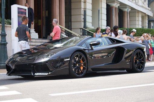 Car, Vehicle, Lamborghini, Aventador, Monaco