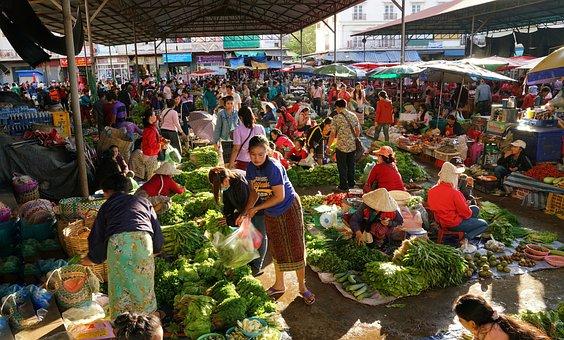 Fruit, Vegetable, Homegrown, Market, Shopping, Pakse