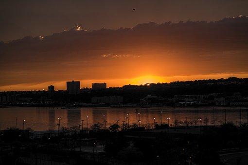 Sunset, Dawn, Dusk, Water, Evening, Sky, Sun, Nature