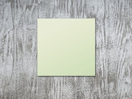 Post It, Green, Wood, Woods, Blank, Board