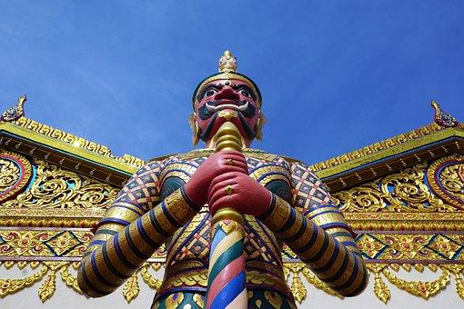 Temple, Ornament, Golden, Religion, Culture, Art