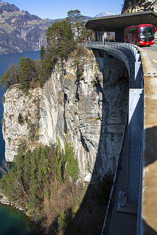 Road Construction, Viaduct, Bridge, The Swiss Path, Uri