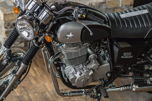 Motorcycle, Motor, Two Cylinders, Drive, Wheel, Chrome