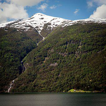 Mountain, Water, Landscape, Nature, Fjord