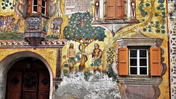 Monument, Adam And Eve, Frescoes, The Art Of, Culture