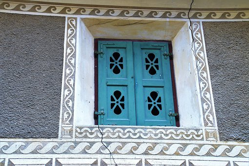 Fresco, Flowered, Antique, Architecture, Lake Dusia
