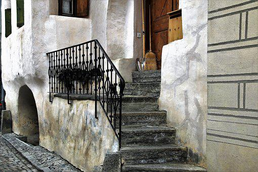 Stairs, Railing, Kamienica, Architecture, House