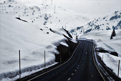 Asphalt, The Alps, Frequency Response, Snow, Winter