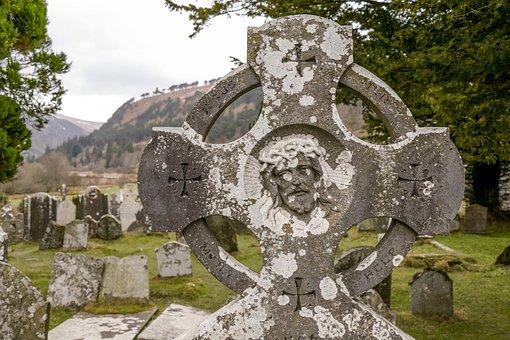 Stone, Old, Celtic Cross, Cross, Cemetery, Ireland