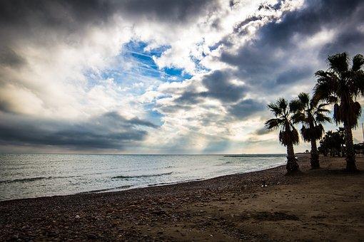 Beach, Costa, Sea, Body Of Water, Sand, Cloud, Island
