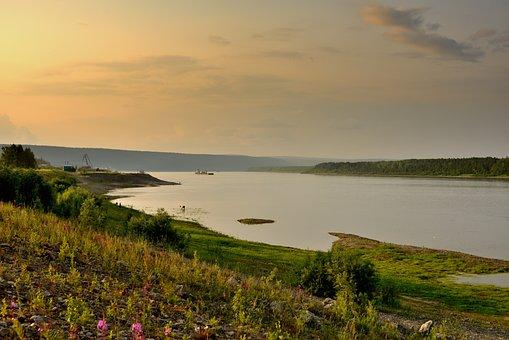 The Lena River, Siberia, Yakutia, Cow