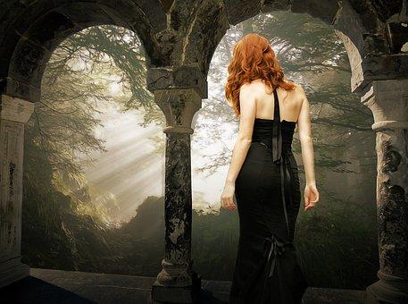Gothic, Fantasy, Dark, Windows, Forest, Dark Forest