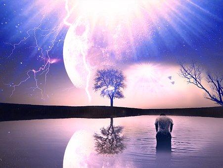 Dusk, Sunset, Dawn, Nature, Evening, Sun, Reflection