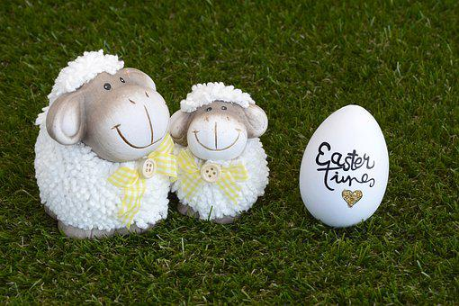 Sheep, Easter, Easter Egg, Decoration, Easter Greeting