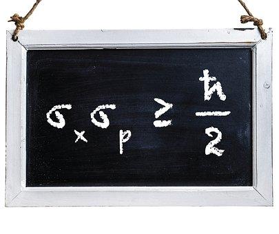 Uncertainty, Chalk, Chalkboard, Equation, Principle