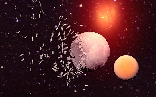 Moon, Astronomy, Space, Planet, Background, Explosion