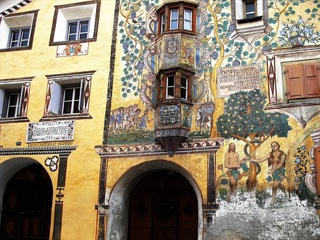 Frescoes, Painted, Monument, Kamienica, The Art Of