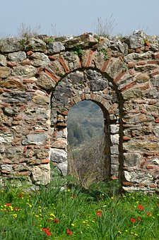 Goal, Stone, Old, Antiquity, Architecture, Wall