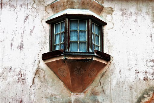 Antique, Plaster, Architecture, Old, Window, House