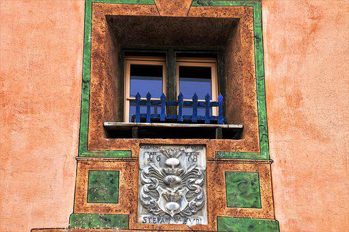 Retro, Architecture, Old, House, Lake Dusia, Window