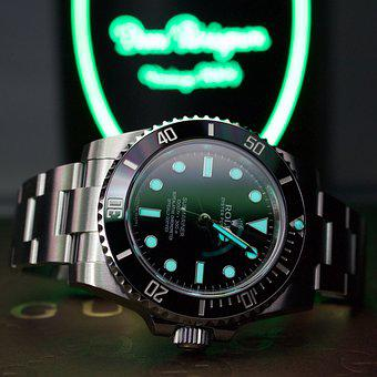 Time, Watch, Clock, Rolex, Submariner, Lume, Timer