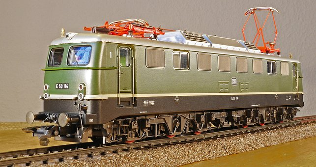 Electric Locomotive, Model, Scale H0, Sehsachsig