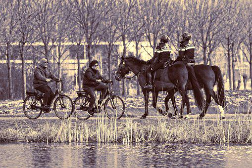 Persons, People, Police, Mounted Police, Cyclist