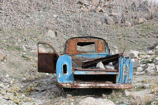 Rusty, Old, Abandoned, Travel, Nature, Vintage, Dirty