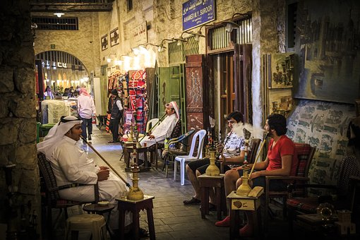 People, Furniture, Inside, Souq Waqif, Doha, City