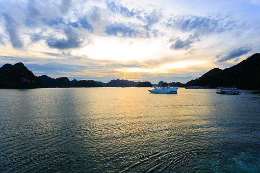 Water, Panoramic, Nature, Reflection, Lake, Halong