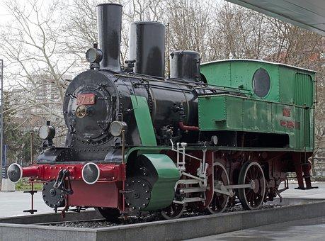 Train, Engine, Steam Locomotive, Old, Antique