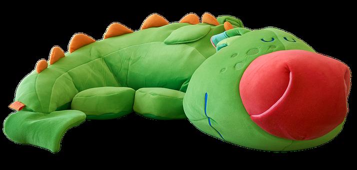 Stuffed Animal, Dragon, Seat Dragon, Children, Isolated