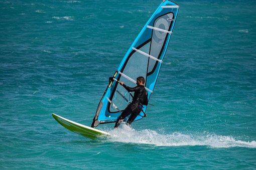 Windsurfing, Surfer, Surf, Water, Sea, Sport, Action